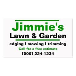 business cards for lawn care lawn care business card zazzle