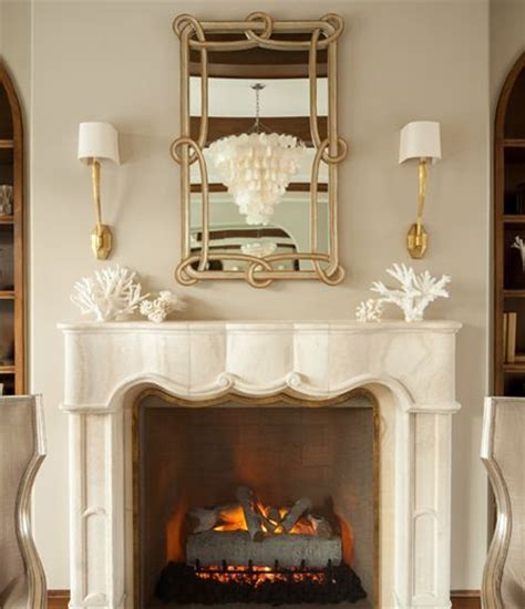 Fireplace Sconce by Marble Fireplace With Ruhlmann Single Sconces