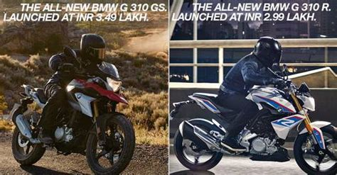 bmw motorrad launches gr  gs  rs   lakh
