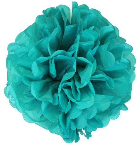Pom Poms Tissue Paper - tissue paper pom pom flower 10inch teal