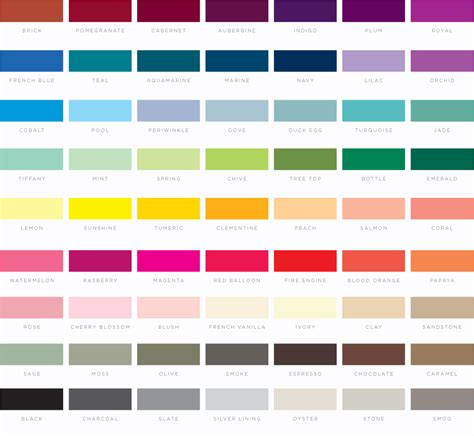 palette of colors all colors in order www pixshark images galleries