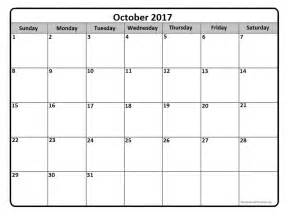 Calendar 2017 October Events October 2017 Calendar October 2017 Calendar Printable