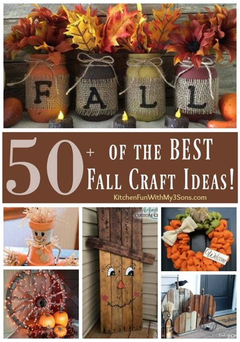 craft ideas for decorating home over 50 of the best diy fall craft ideas kitchen fun