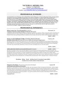 Casino Manager Sle Resume by Meyers Hotel General Manager Resume