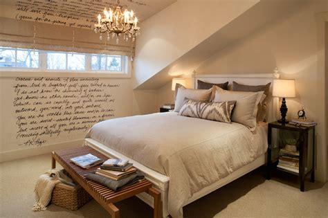 attic bedroom transitional bedroom kelly deck design