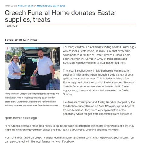premier funeral management creech funeral home