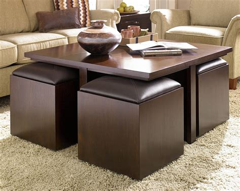 Decorating Living Room with Cool Ottoman Coffee Table