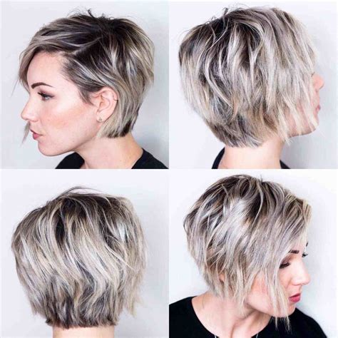 short pixie haircut with med brown and carmel highlights hairstyles for medium short length hair short medium