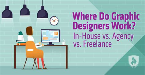 where do graphic designers work in house vs agency vs