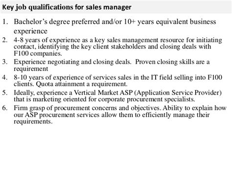 Regional Sales Director Description by Sales Manager Description