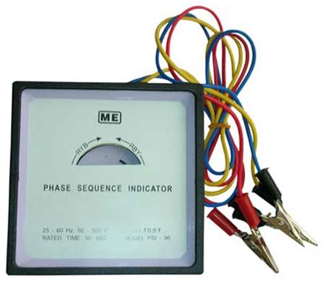 phase sequence inductor phase sequence indicator electronic phase sequence indicator phase indicator manufacturers