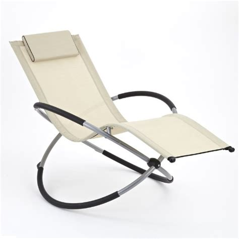 Rocking Garden Lounger 0n 163 Zen Sun Lounger Rocker Chair In Beige Folding Garden Rocking Chair Suitable For Both