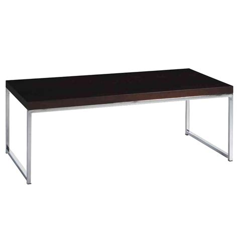ave six wall chrome and espresso coffee table wst12