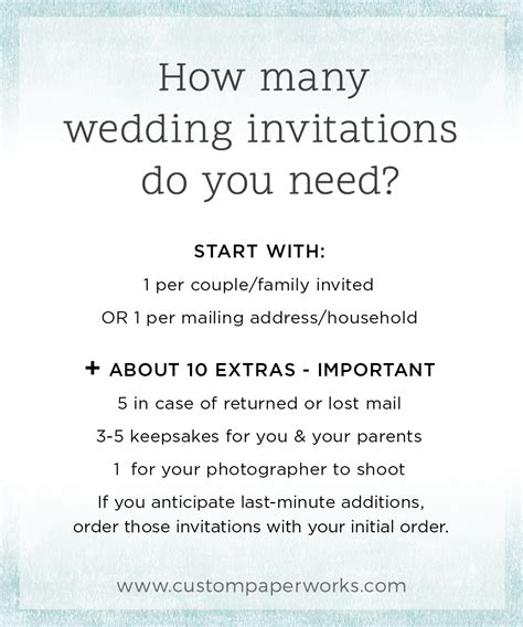 invitation pro tip 9 how many invitations should you order custom paper works