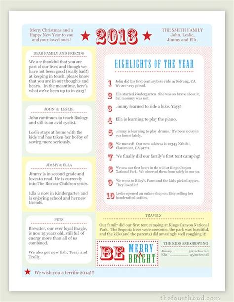Card Newsletter Template by A Year In Review Letter Pdf Template Be