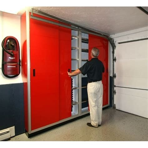 Closet Garage by Aluminum Garage Sliding Door Cabinets Moduline Cabinets