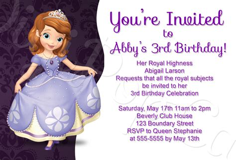 sofia the first party invitations gangcraft net
