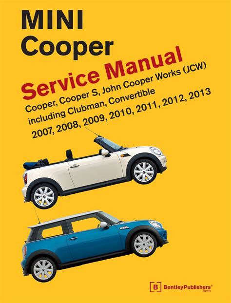free auto repair manuals 2012 mini clubman spare parts catalogs front cover mini cooper service manual 2007 2013 bentley publishers repair manuals and