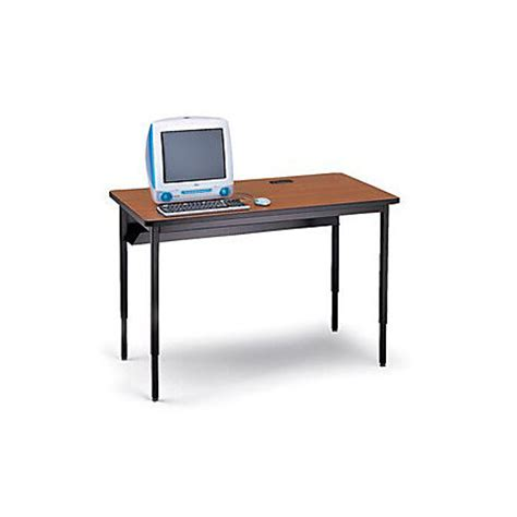 Desks At Office Depot Bretford Quattro Qwtcp3048 Computer Desk By Office Depot Officemax