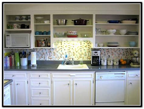 Kitchen Cabinet Without Doors Two Tone Kitchen Cabinets Doors Home Design Ideas