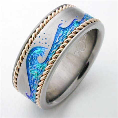 how to make titanium jewelry easton 1 titanium ring with gold titanium wedding rings
