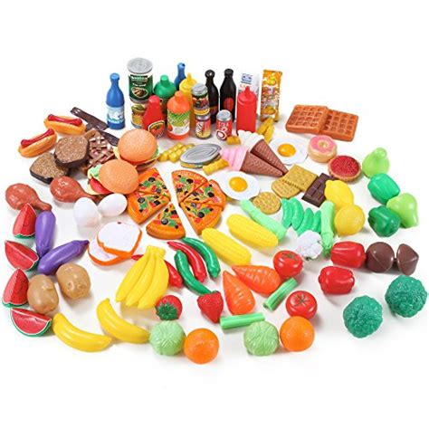 food toys deluxe food assortment set 120 pcs play kitchen toys contents may vary ebay