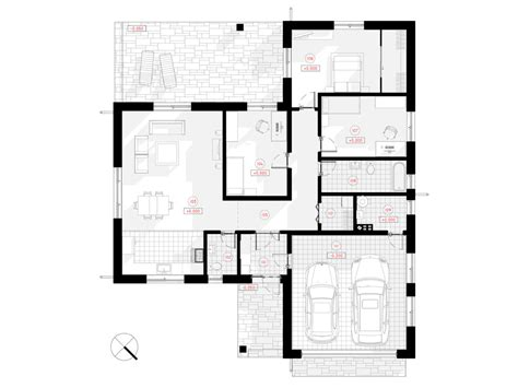 single storey house project with two slot garage vita