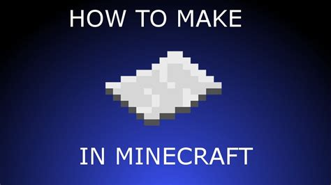 How To Make Paper Minecraft - minecraft how to make paper www pixshark images