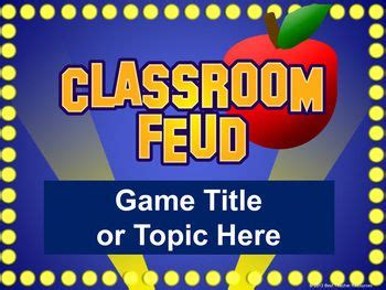 Classroom Feud Powerpoint Template Plays Like Family Family Feud Powerpoint Template