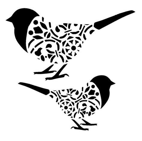 bird stencil printable coloring home