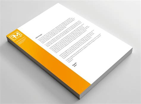 Business Letter Mockup free letterhead psd mock up titanui