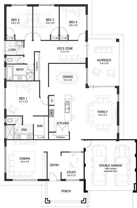 large family floor plans 4 bedroom house plans home designs celebration homes
