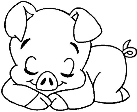 pig cute pig 141 coloring pages