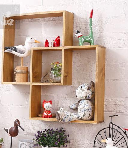 kayu solid penyimpanan rak hiasan dinding hiasan dinding