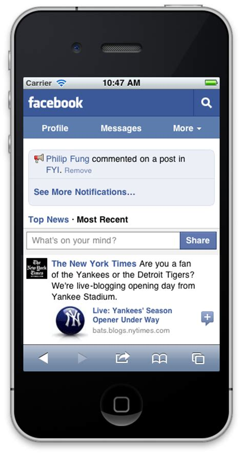faceb mobile gigaom one mobile version to rule all phones