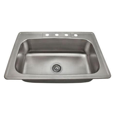 kitchen sinks direct mr direct drop in stainless steel 33 in 4 hole single
