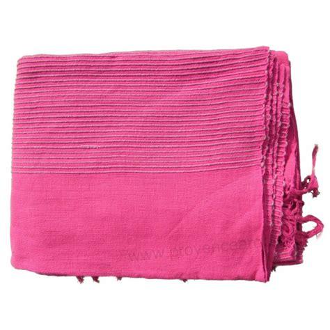 tenture k 233 rala plaid couvre lit fushia provence