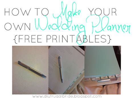 Wedding Planner Kit Free by Sleepless In Diy Country Celebrating How To Make