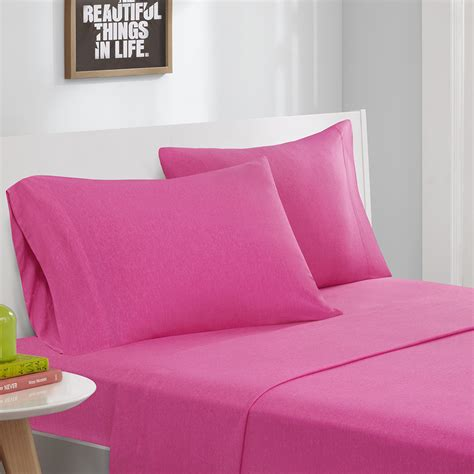 jersey knit sheet set intelligent design cotton blend jersey knit sheet set ebay