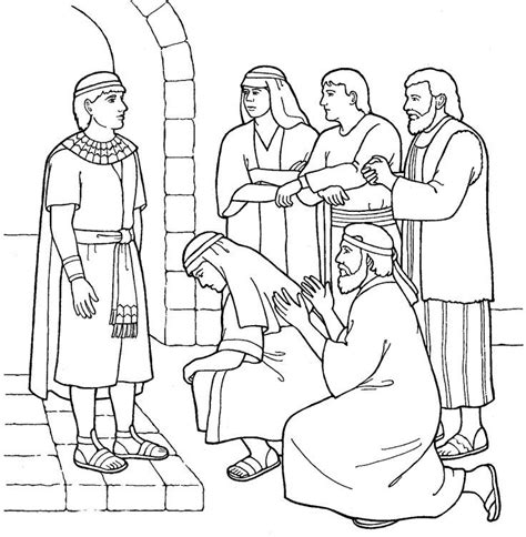 Coloring Pages Joseph And His Brothers | joseph forgives his brothers coloring page az coloring pages