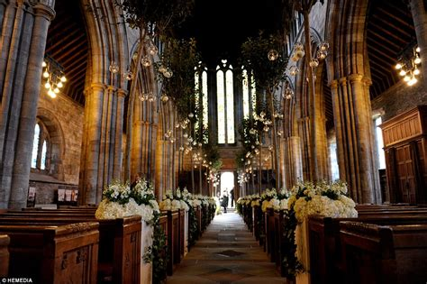 Country Wedding Reception Decorations Andy Murray And Kim Sears Wedding At Dunblane Cathedral