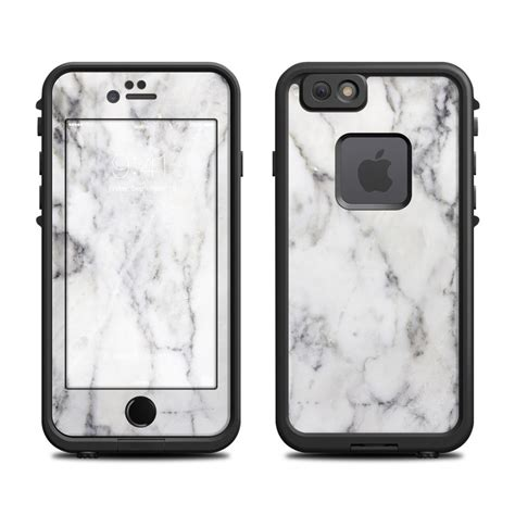 white marble lifeproof iphone 6s fre skin istyles