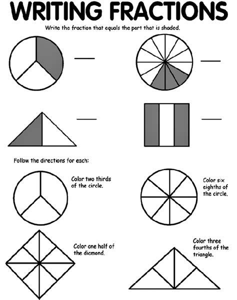 math coloring pages with fractions free worksheets 187 color fractions free math worksheets