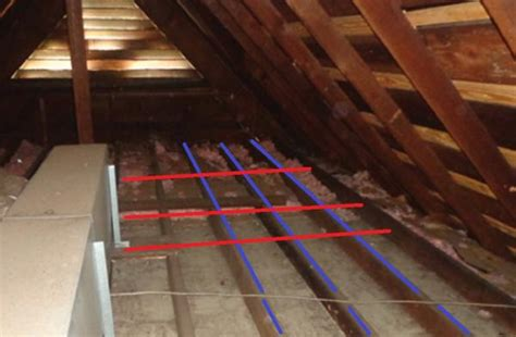 raise attic floor wires with 2x2s doityourself