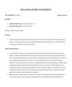 nda template word 12 non disclosure agreement templates free sle