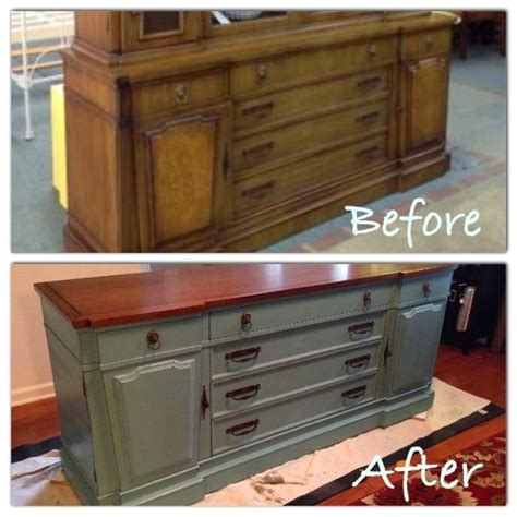 chalk paint entertainment center my 1960 thomasville hutch buffet turned tv console