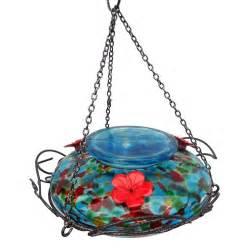 nature s way bird products blue sunset glass hummingbird