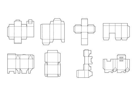 packaging box template  vector art