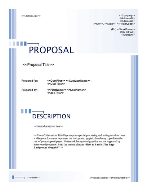 design proposal title proposal pack classic 10 software templates sles