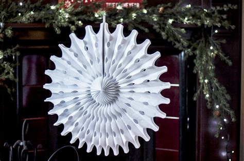 How To Make Hanging Paper Snowflakes - pack of 12 paper snowflake hanging decorations